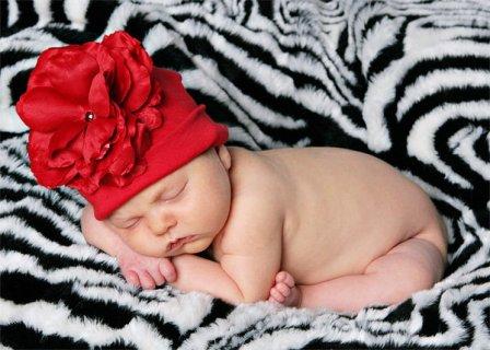 Red Rose Flower Hat