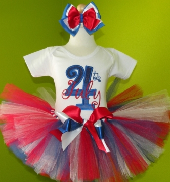 4th of July Birthday Tutu Outfit Set