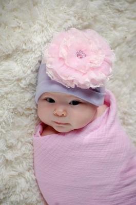 Lavender & Pale Pink Lace Rose Cotton Flower Hat