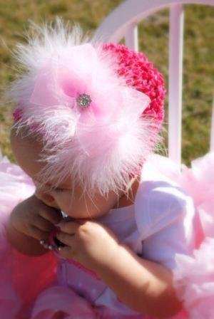 Glamour Marabou Infant Crochet Hat