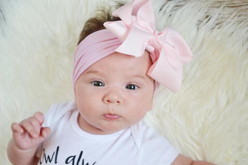 Choose Color - Large Ribbon Bow Nylon Headwrap Headband