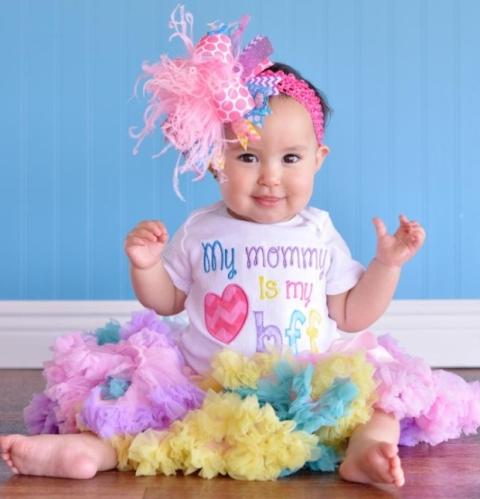 Mommy is My BFF Chevron Monogram Infant Tee Shirt