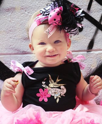 Princess Pirate Over the Top Hair Bow Headband