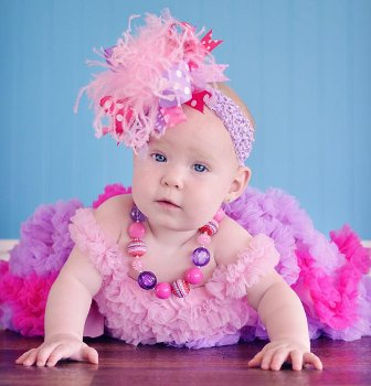 Pink and Purple Over the Top Hair Bow Headband
