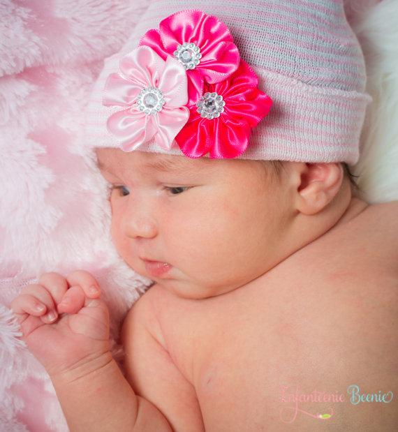 Flower Bling Beauty Newborn Boutique Hospital Hat