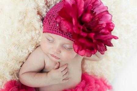 Raspberry Pink Crochet Flower Hat