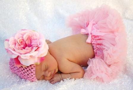 Light Pink Peony Beanie Flower Hat