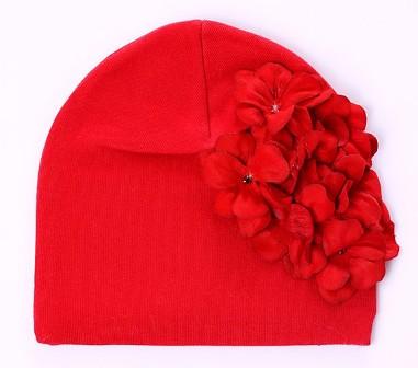 Red Geranium Flower Hat