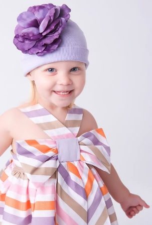 Lavender Rose Flower Hat