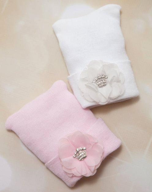 Rhinestone Crown Newborn Princess Hospital Hat