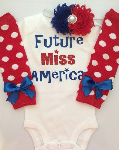 Future Miss America Patriotic Bodysuit
