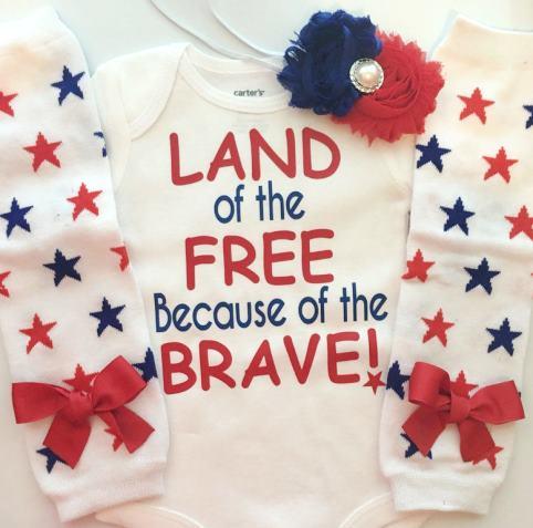 Land of the Free Patriotic Bodysuit