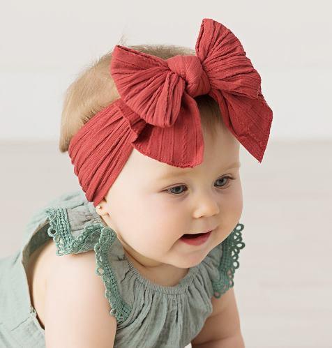 Choose Color - Cable Knit Messy Bow Nylon Headband