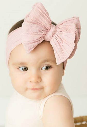 Choose Color - Large Cable Knit Nylon Messy Bow Headband