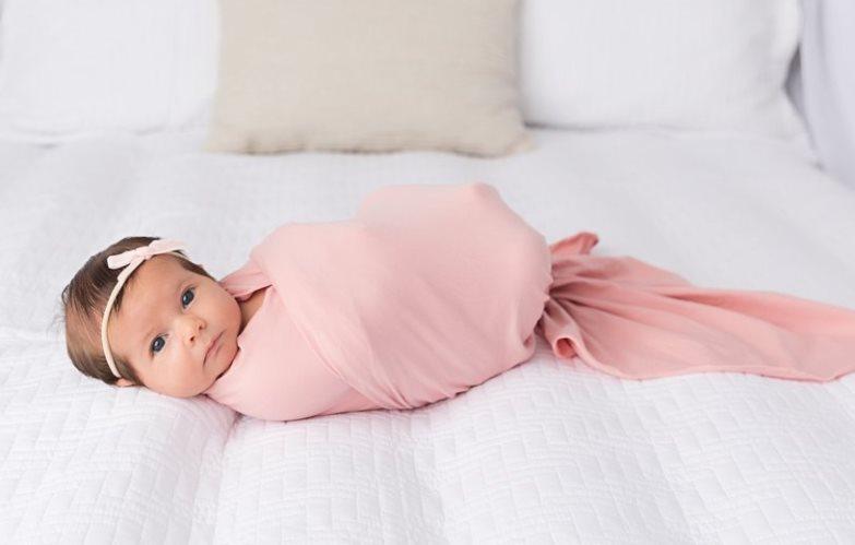 Blush Knit Swaddle Blanket