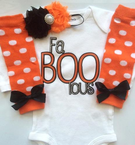 Fa-BOO-Lous First Halloween Bodysuit