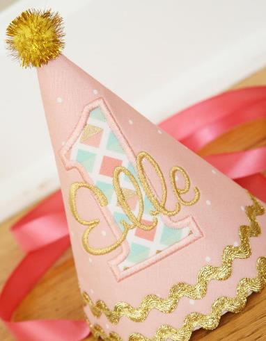 Personalized Peach 1st Birthday Hat