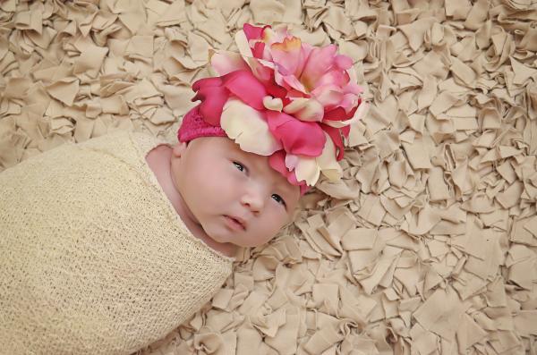 Raspberry & Pink Crochet Flower Hat