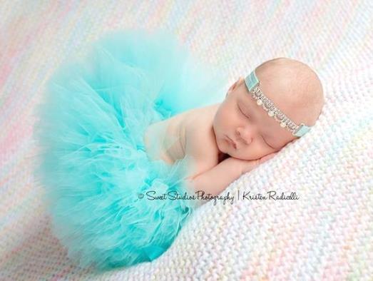 Poofy Aqua Baby Girl Tutu