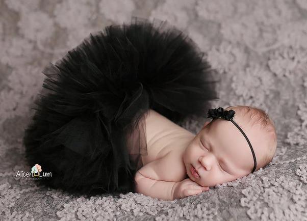 Poofy Black Baby Girl Tutu