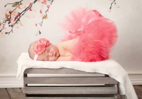 Poofy Coral Baby Girl Tutu