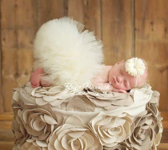 Poofy Ivory Baby Girl Tutu Skirt