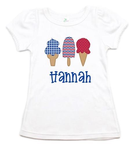 Personalized Summer Ice Cream Patriotic Shirt