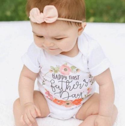 Personalized Floral Father's Day Bodysuit
