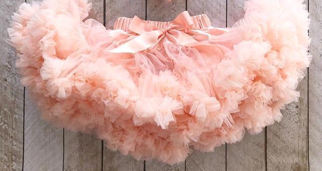 Peach Fluffy Baby Pettiskirt