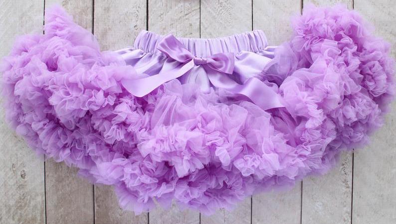 Lavender Fluffy Baby Pettiskirt