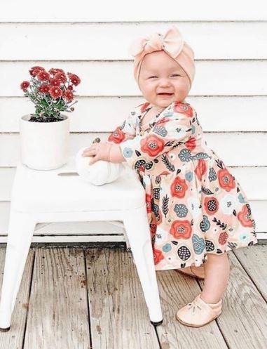 Retro Floral Twirl Dress
