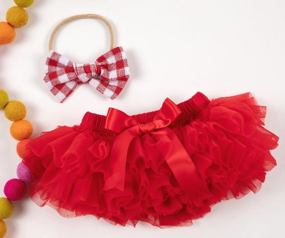 Red Tutu Diaper Cover with Matching Headband