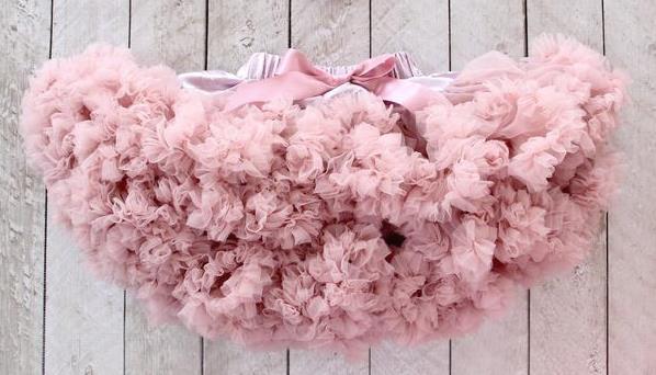 Vintage Pink Fluffy Baby Pettiskirt