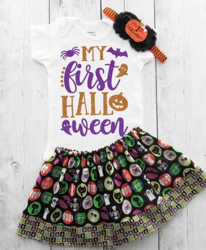 My First Halloween Skirt Outfit