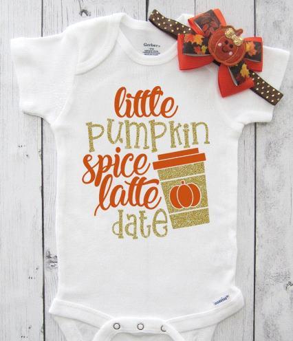 Pumpkin Spice Latte Date Fall Bodysuit
