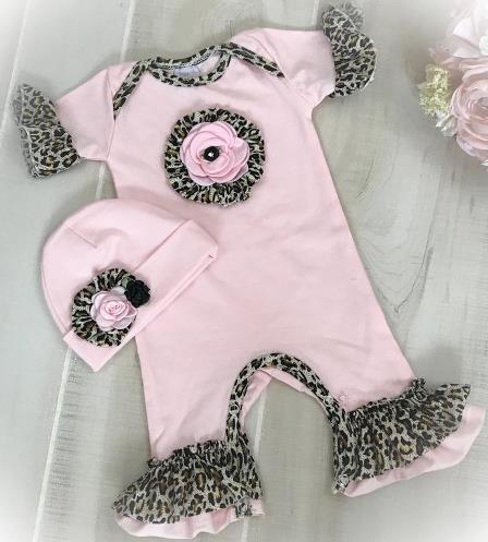 Pink & Leopard Ruffle Romper