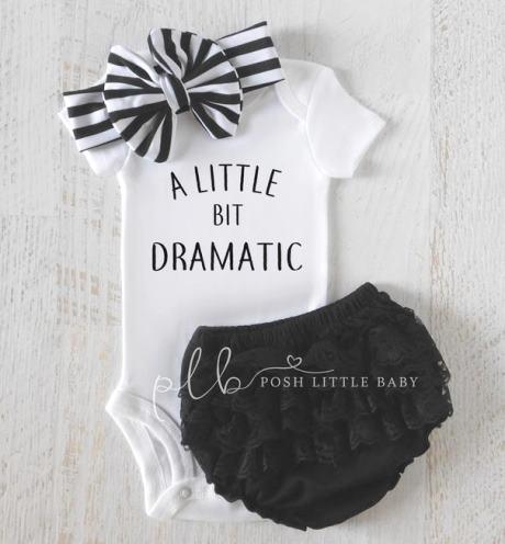 A Little Bit Dramatic Baby Bodysuit