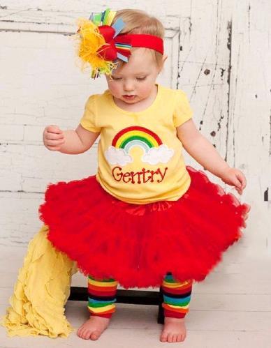 Personalized Yellow Rainbow Birthday Shirt
