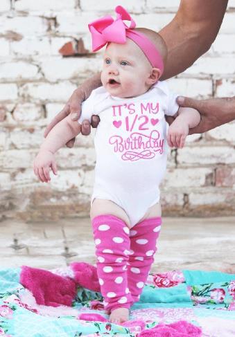 Hot Pink 1/2 Birthday Bodysuit