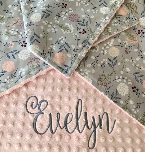 Sweet Dandelions Personalized Blanket