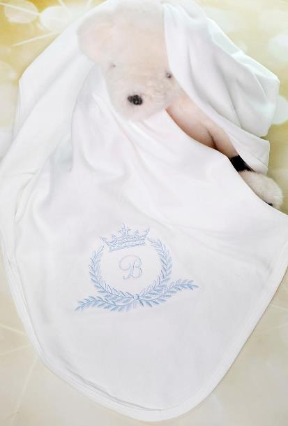Baby Boys Royal Prince Personalized Receiving Blanket