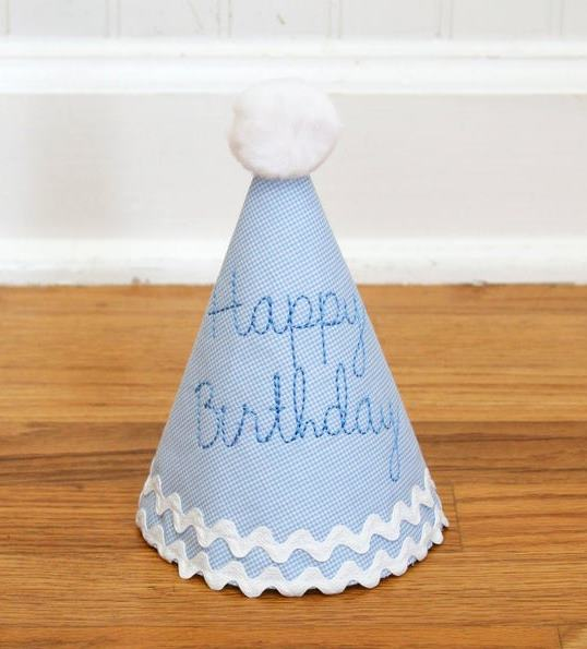 Blue Baby Boys Happy Birthday 1st Birthday Party Hat