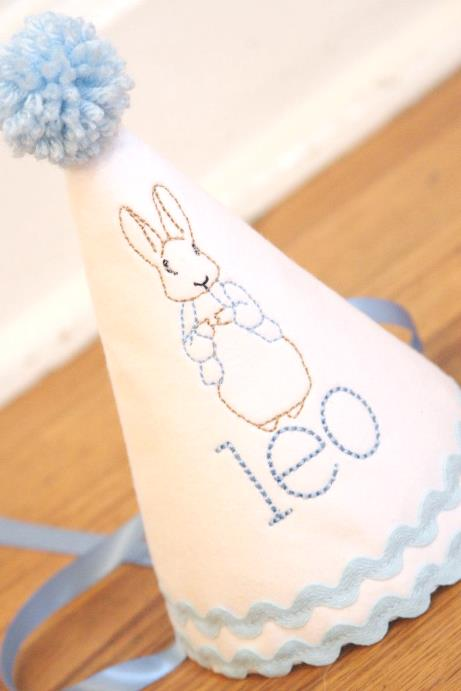 Boys Peter Rabbit Personalized Birthday Hat