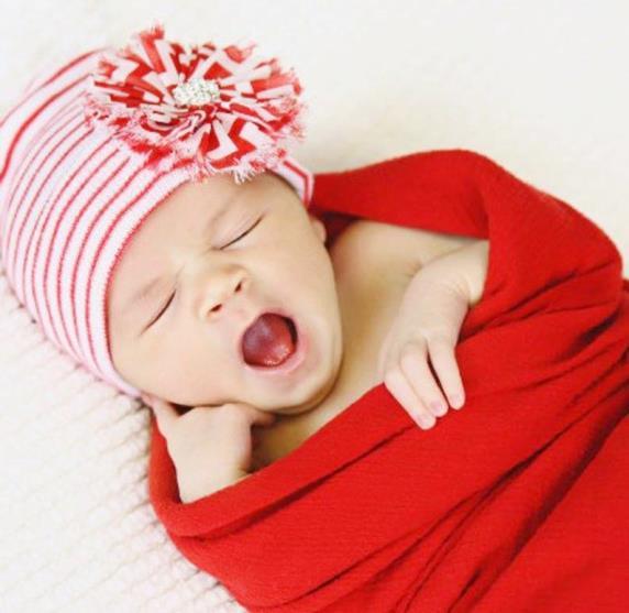 Newborn Baby Girls Christmas Hospital Hat