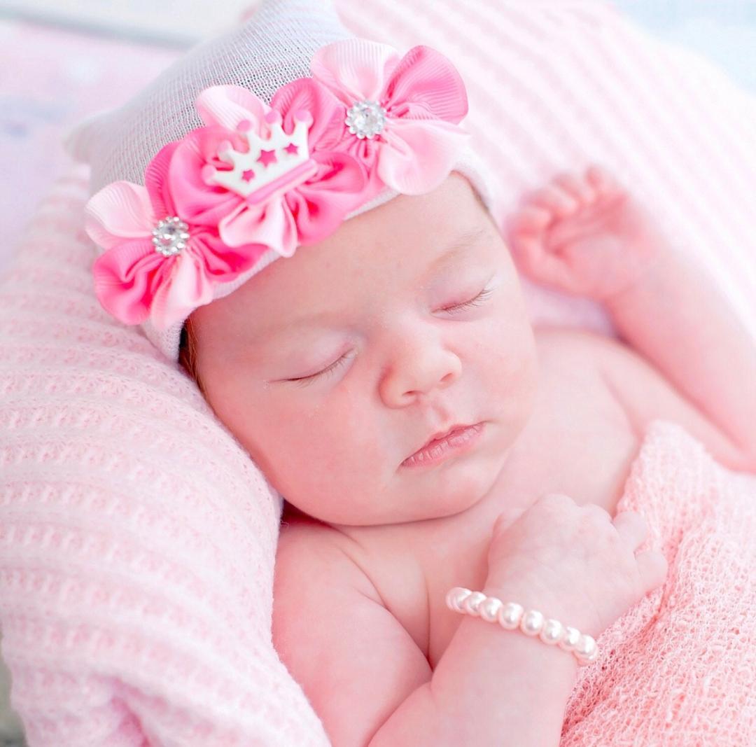 Little Princess Tiara Newborn Boutique Hospital Hat