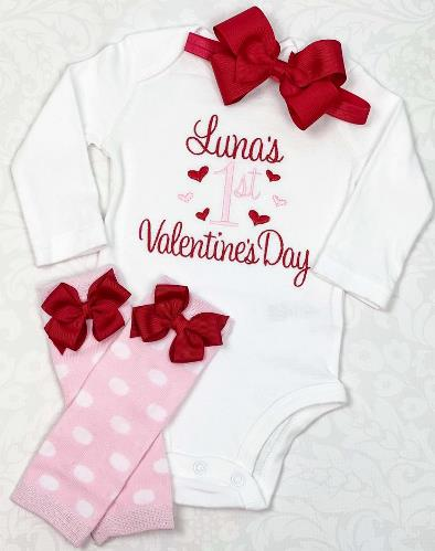 Personalized 1st Valentine's Day Outfit