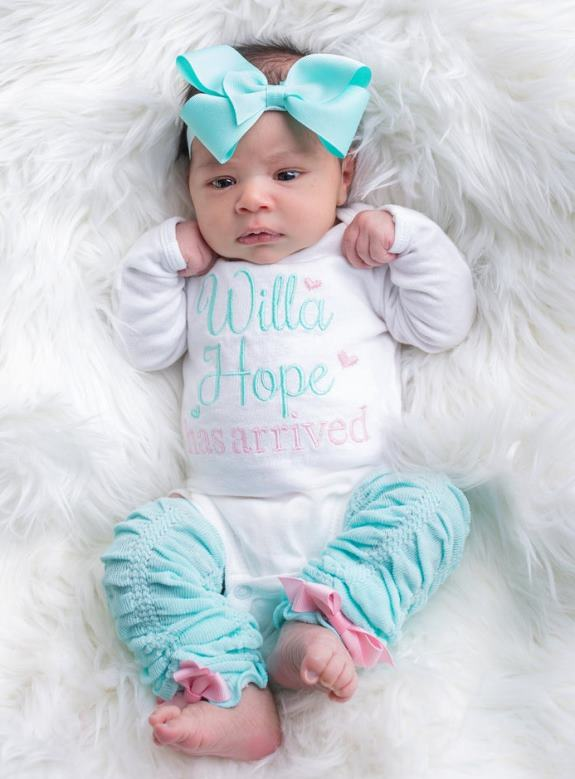 Baby Girl Has Arrived Personalized Newborn Outfit