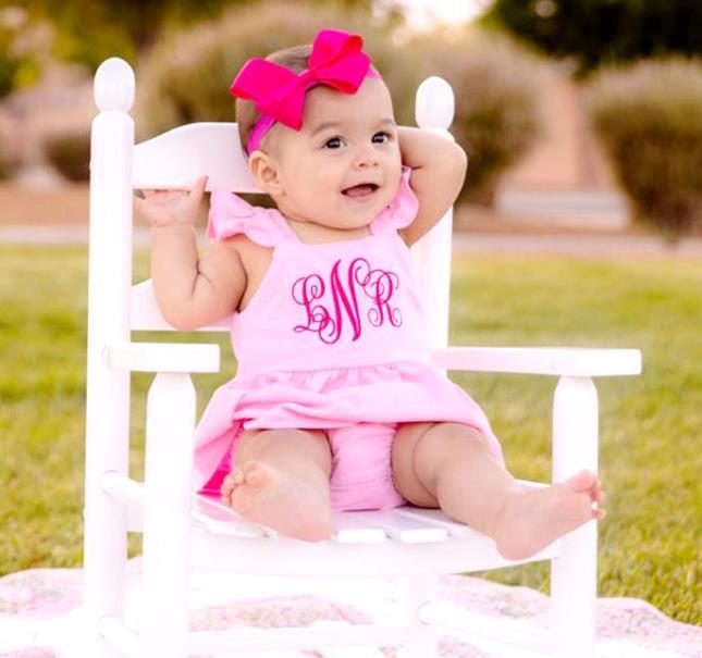 Pink Personalized Flutter Strap Summer Dress