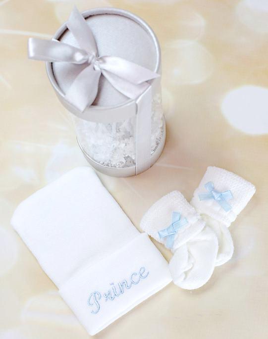 Baby Boy Newborn Hospital Hat and Socks Gift Set