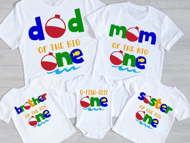 O-Fish-Ally One Family 1st Birthday Shirts for Baby Boy
